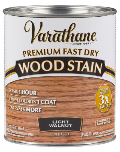 Rust-Oleum Varathan Premium Fast Dry Wood Stains - Light Walnut - 946 Ml