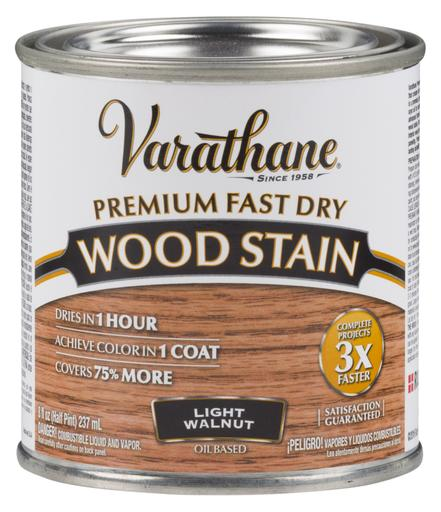 Rust-Oleum Varathan Premium Fast Dry Wood Stains - Light Walnut - 236 Ml