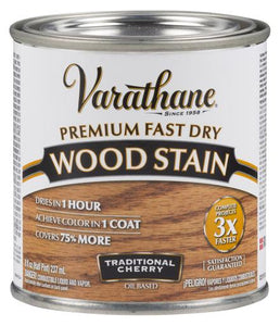 Rust-Oleum Varathane Premium Fast Dry Wood Stains- Traditional Cherry - 236 Ml