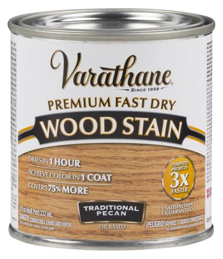 Rust-Oleum Varathane Premium Fast Dry Wood Stains- Traditional Pecan - 236 Ml