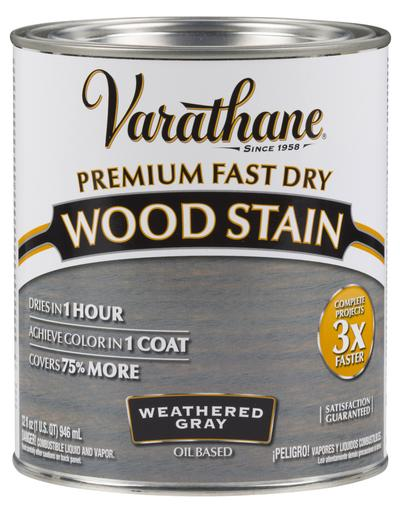 Rust-Oleum Varathan Premium Fast Dry Wood Stains - Weathered Gray - 946 Ml