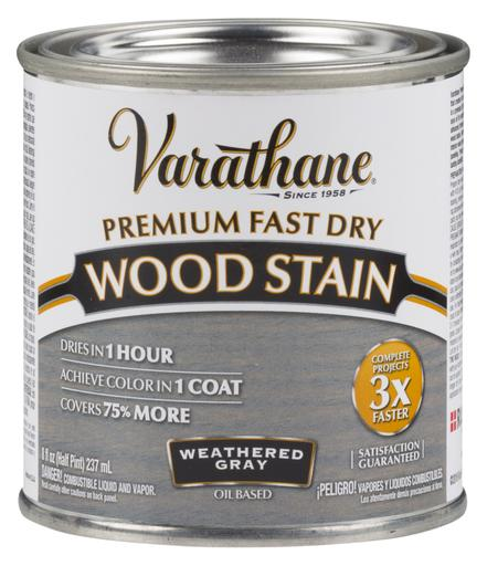 Rust-Oleum Varathane Premium Fast Dry Wood Stains- Weathered Gray - 236 Ml