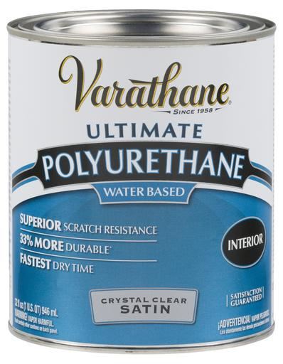 Rust-Oleum Varathane Crystal Clear Polyurethane - Satin - 946 Ml