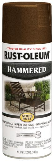 Rust-Oleum Stops Rust Hammered Metal Finish Aerosol Spray Paint - Brown - 340 Grams