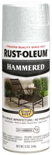 Rust-Oleum Stops Rust Hammered Metal Finish Aerosol Spray Paint - White - 340 Grams