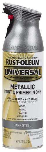Rust-Oleum Universal Metallic Spray Paint - Dark Steel - 312 Grams
