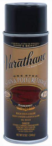 Rust-Oleum Varathane One Step Stain & Polyurethane Spray - Oil Based - Cabernet