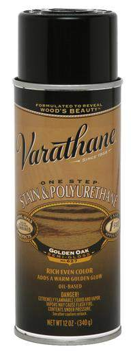 Rust-Oleum Varathane One Step Stain & Polyurethane Spray - Oil Based - Golden Oak