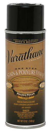 Rust-Oleum Varathane One Step Stain & Polyurethane Spray - Oil Based - Golden Pecan