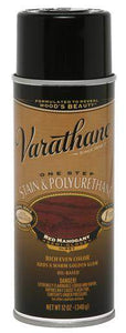 Rust-Oleum Varathane One Step Stain & Polyurethane Spray - Oil Based - Red Mahogany