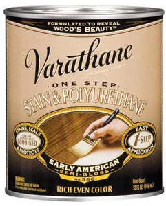 Varathane One Step Stain and Polyurethane - Oil Based - Early American - 946 Ml