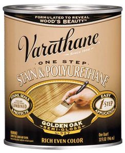 Varathane One Step Stain and Polyurethane - Oil Based - Golden Oak - 946 Ml