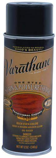 Rust-Oleum Varathane One Step Stain & Polyurethane Spray - Oil Based - Traditional Cherry