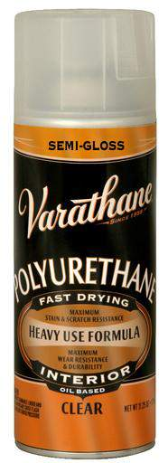 Varathane Polyurethane Spray for Interior - Oil Based - Semi-Gloss