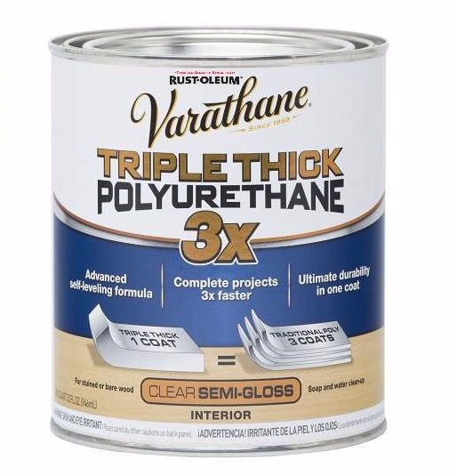 Rust-Oleum Varathane Water-Based Triple Thick Polyurethane for Interior - Semi-Gloss - 946 ml