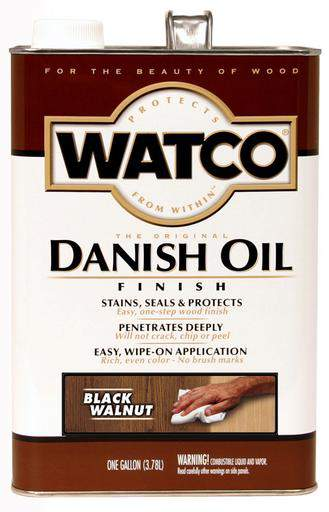 Rust-Oleum Watco Danish Oil Stains, Seals and Protect Wood In One Step - Black Walnut - 3.78 Ltr.