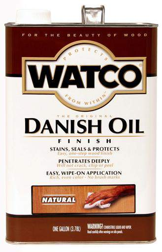 Rust-Oleum Watco Danish Oil Stains, Seals and Protect Wood In One Step - Natural - 3.78 Ltr.