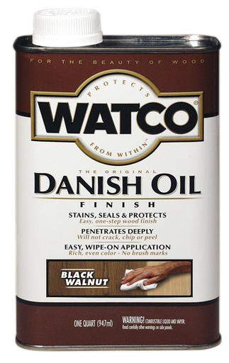 Rust-Oleum Watco Danish Oil Stains, Seals and Protect Wood In One Step - Black Walnut - 946 Ml