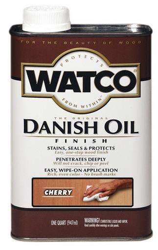 Rust-Oleum Watco Danish Oil Stains, Seals and Protect Wood In One Step - Cherry - 946 Ml