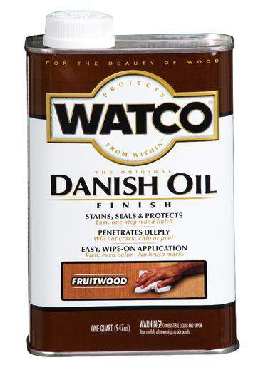 Rust-Oleum Watco Danish Oil Stains, Seals and Protect Wood In One Step - Fruitwood - 946 Ml