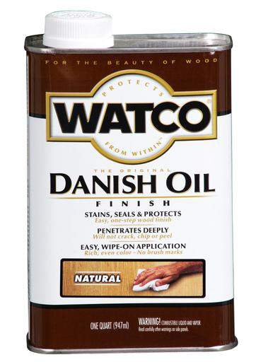 Rust-Oleum Watco Danish Oil Stains, Seals and Protect Wood In One Step - Natural - 946 Ml