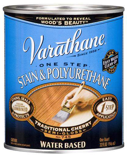 Varathane One Step Stain and Polyurethane - Water-Based - Traditional Cherry - 946 Ml