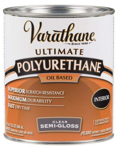 Varathane Oil Based Polyurethane for Interior - Semi-Gloss - 946 Ml