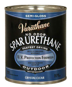 Varathane Water Based Spar Urethane for Outdoor Wood - Semi-Gloss - 946 Ml