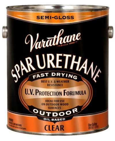 Varathane Oil Based Spar Urethane for Outdoor Wood - Semi-Gloss - 3.78 Ltr.