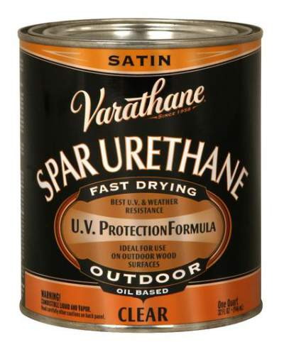 Varathane Oil Based Spar Urethane for Outdoor Wood - Satin - 946 Ml