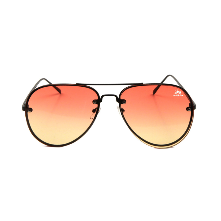 Athleisure Sagii Sunset Aviators - Orange/Gold | Sunglasses | Sagii Store | 58.00 USD