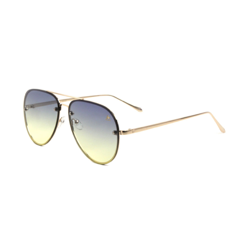 Sunglasses - Sagii Sunset Aviators - Blue/Gold - sagii-store