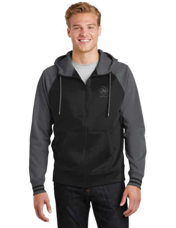 Men's Hoodies - Men's Full-Zip Fleece Hooded Jacket - sagii-store