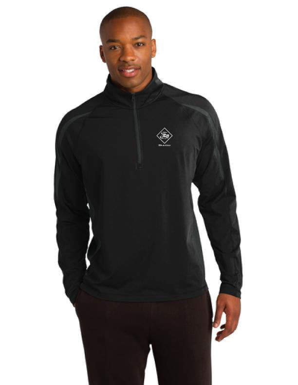 Athleisure Mens Stretch Colorblock 1/2-Zip Pullover | Mens Jackets | Sagii Store | 98.00 USD