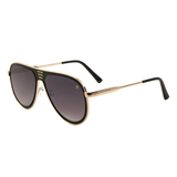 Sunglasses - Sagii Sleek Fashion Aviators - Gold/Black - sagii-store