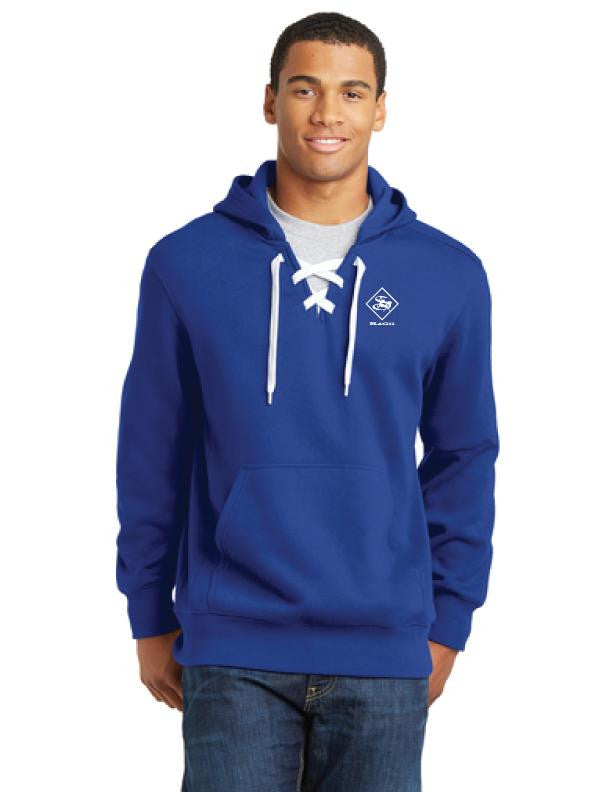 Men's Hoodies - Men's Lace Up Hooded Pullover Sweatshirt - sagii-store