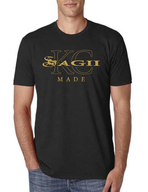 Athleisure Black KC Made Tee Shirt | Mens T-Shirts | Sagii Store | 32.00 USD