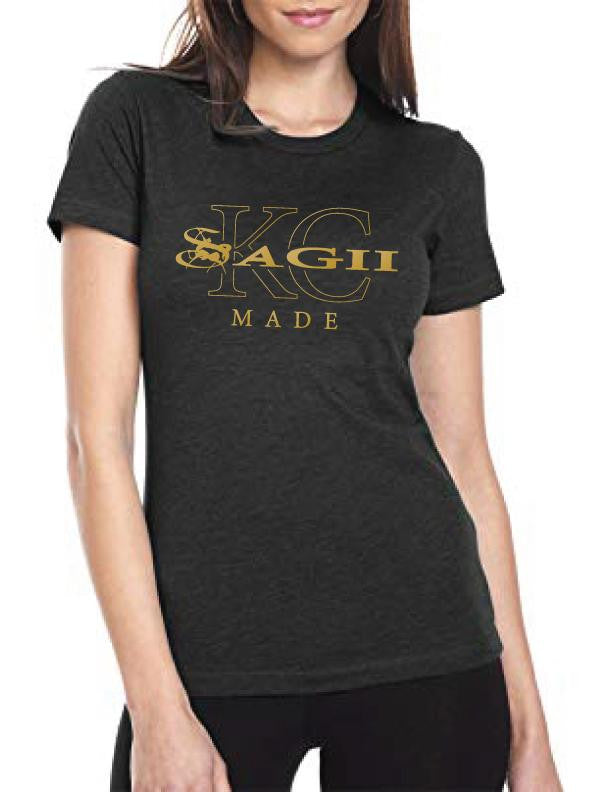 Women's T-Shirts - Women's Black KC Made Tee Shirt - sagii-store