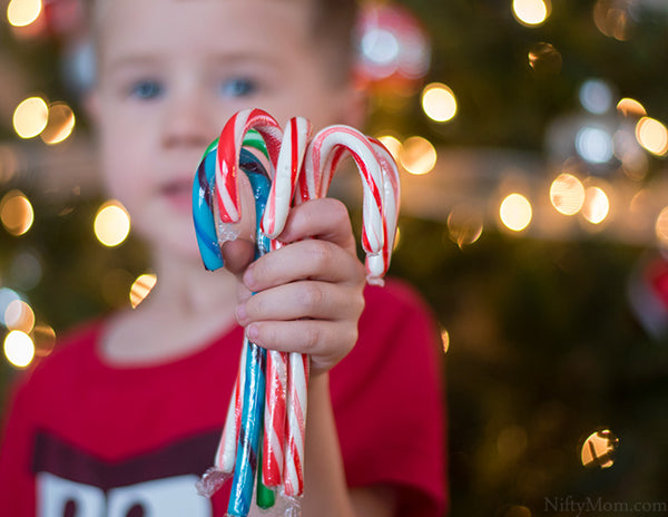 candy canes and kids christmas