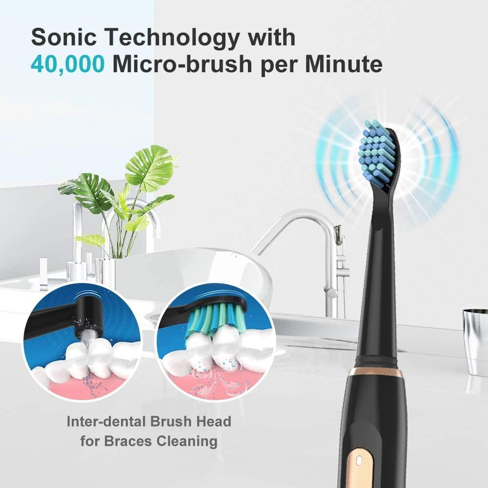 551 Electric Toothbrush Sonic Rechargeable for Adults and Kids