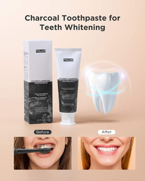 215 Activated Charcoal Toothpaste for Whitening Teeth Stain Removal 3 Pack