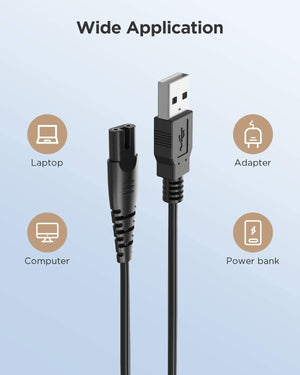 USB Charging Cable for Fairywill Water Flosser 5020E