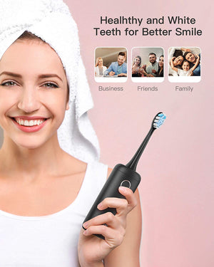 T9 Portable Travel Electric Toothbrush 62,000VPM Rechargeable 4 Heads