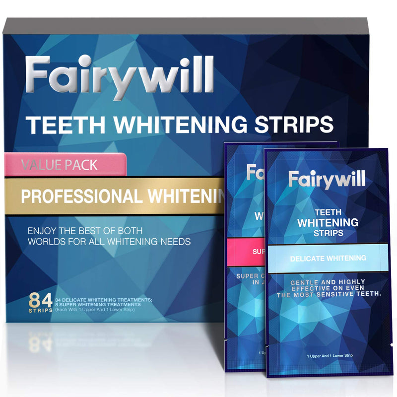 Fairywill Whitening Strips Kits Pack of 84 Pcs