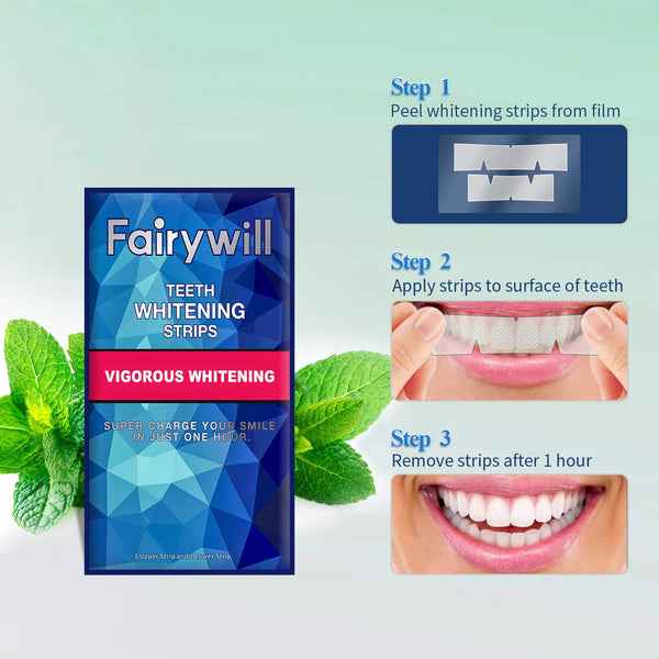 Fairywill Vigorous Teeth Whitening Strips Pack Of 20 Pcs