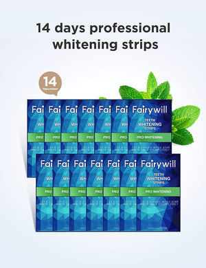 Fairywill 28 Pcs Teeth Whitening Strips Non-Slip Professional Effect Whitening Strips