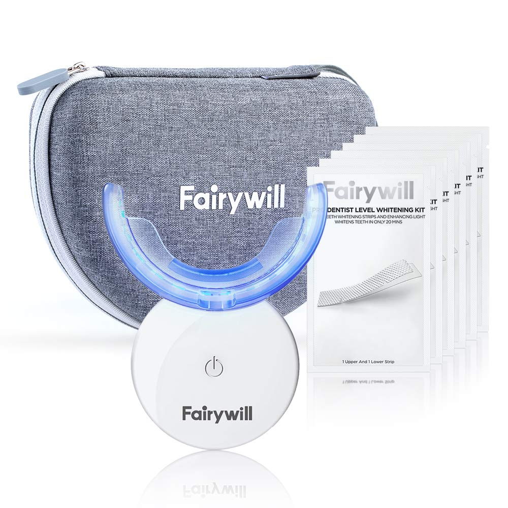Fairywill Supreme Teeth Whitening Strips with Light