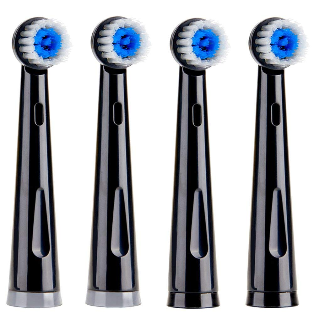 Fairywill Black Soft Replacement Toothbrush Heads X 4, OC21(Previous Model: FW-031)