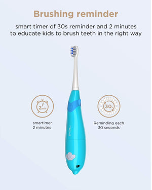 fairywill 921 blue kids toothbrush