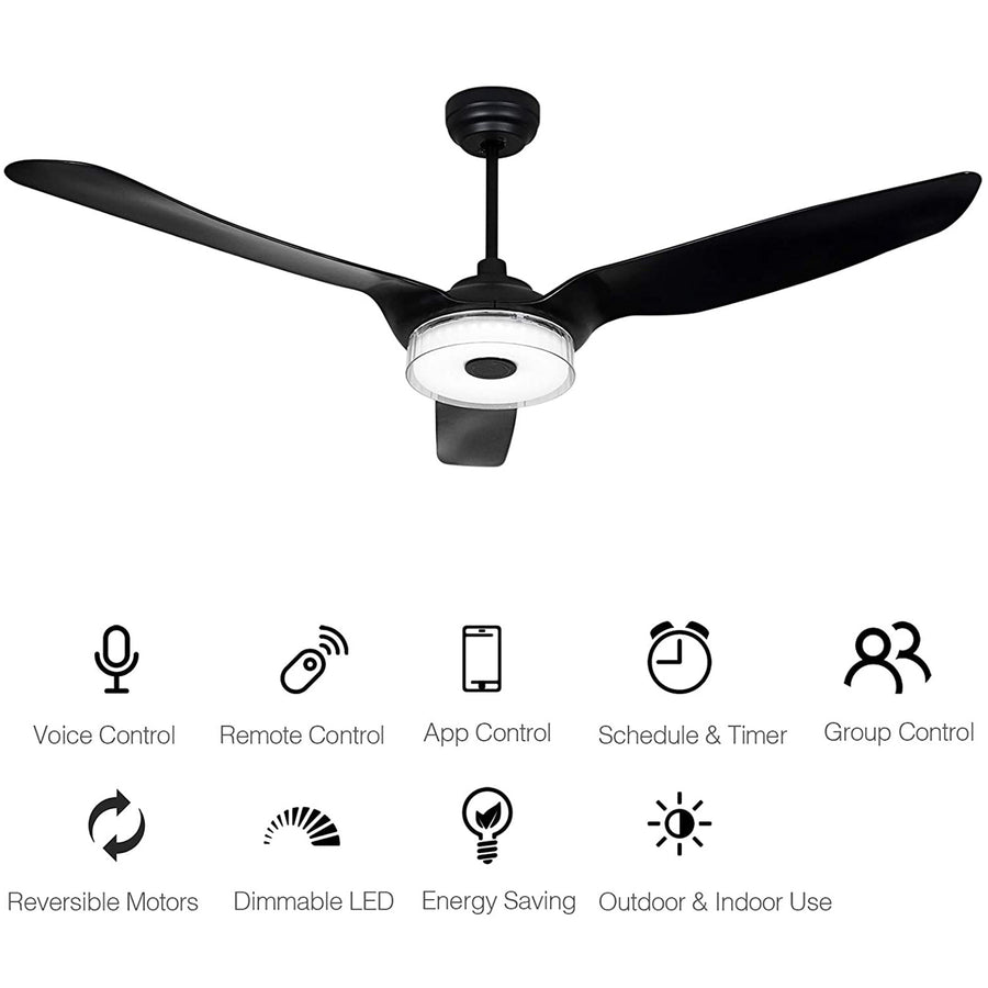 Icebreaker Outdoor 52'' Smart Ceiling Fan with LED Light Kit